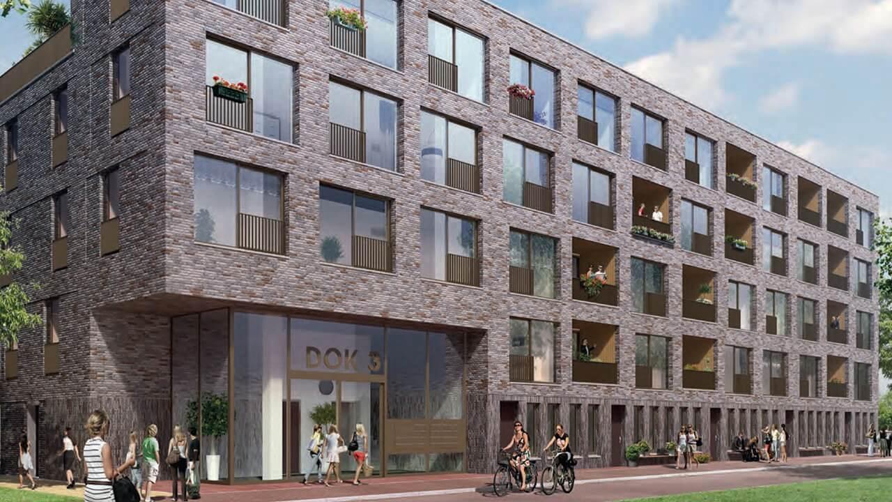 38 appartementen Eemskwartier Dok 3 Groningen